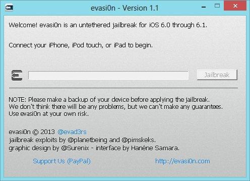 evasi0n 1.1 - Jailbreak - Evasi0n passe en version 1.1