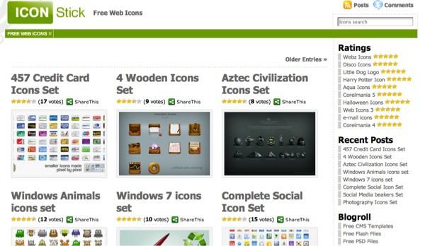 Icon Stick - 5 sites d'icônes gratuites