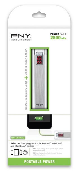POWER PACK 2600 - PNY PowerPack - Chargeurs mobiles portables