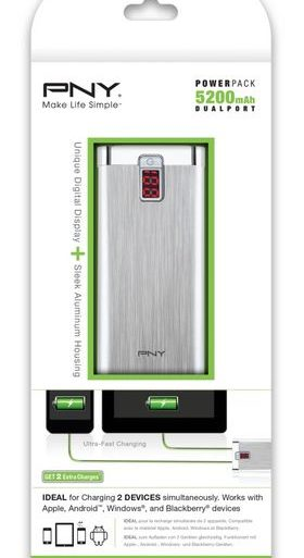 POWER PACK 5200 280x513 - PNY PowerPack - Chargeurs mobiles portables