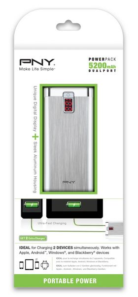 POWER PACK 5200 - PNY PowerPack - Chargeurs mobiles portables