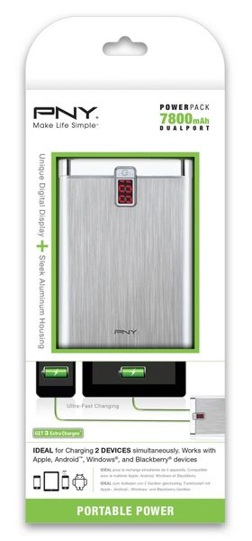 POWER PACK 7800 - PNY PowerPack - Chargeurs mobiles portables