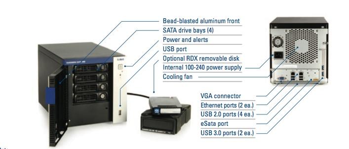 Tandberg Data BizNAS D400 details - Tandberg Data lance sa gamme de NAS