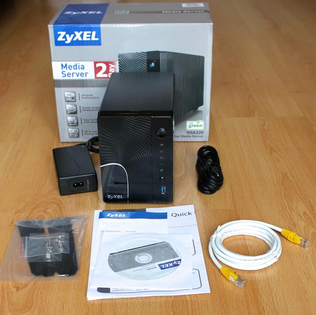 ZyXEL NSA325 Presentation - Test NAS - ZyXEL NSA325