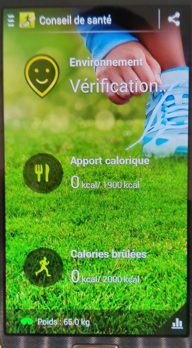 conseil sport nutition - Prise en main du Samsung Galaxy S4