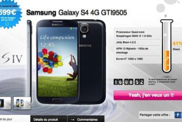 samsung galaxy S4 370x247 - Samsung Galaxy S4 moins cher