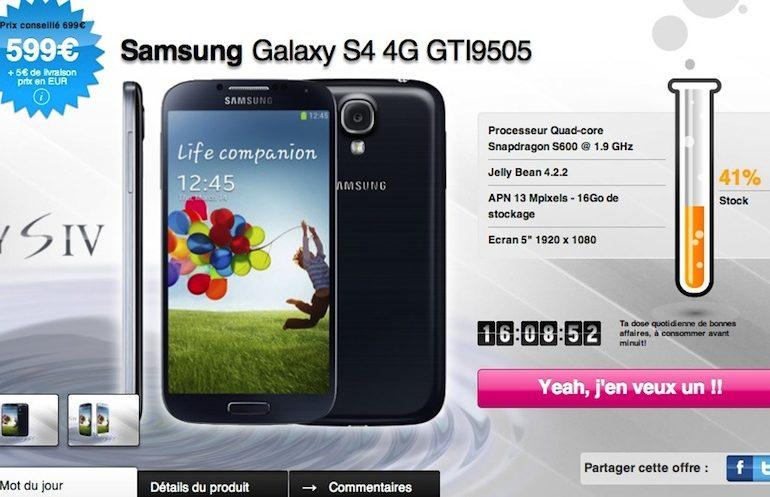 samsung galaxy S4 770x497 - Samsung Galaxy S4 moins cher