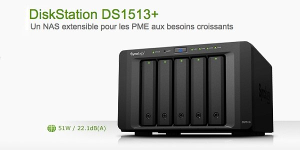 SYNOLOGY DiskStation 1513 plus - Synology lance son NAS DS1513+