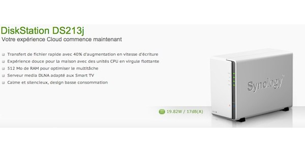 Synology DS213j - Synology DS213j débarque...
