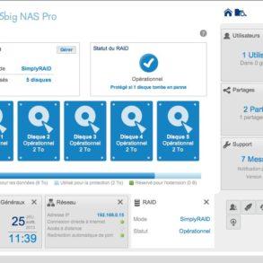 interface lacie raid 5big nas pro 293x293 - NAS - LaCie va proposer une mise à jour