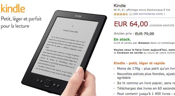 Liseuse Kindle 64 euros