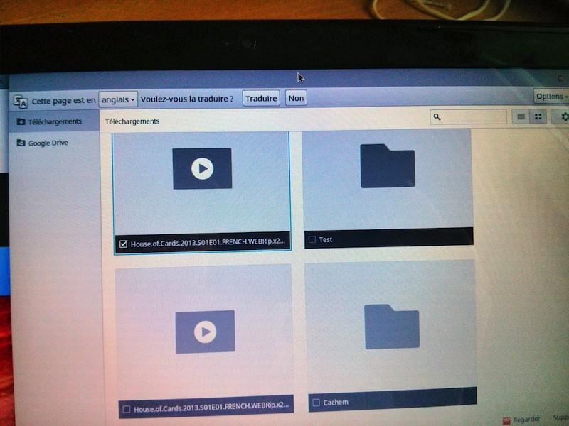 gestionnaire fichier anomalie video - Test du Chromebook Acer C7