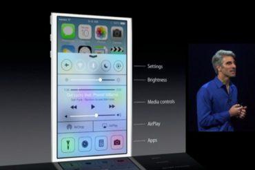 iOS 7 reglages rapides 370x247 - WWDC 2013 : iOS 7 et OS X 10.9