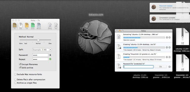 keka OSX Mac 770x373 - Keka, la compression facile sous OS X