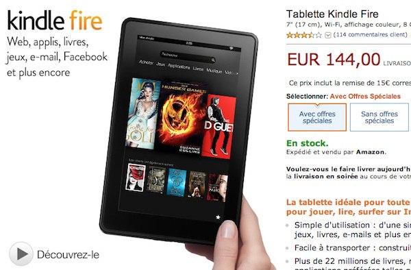 kindle fire 144 euros - Promo Kindle pour la fête des Pères