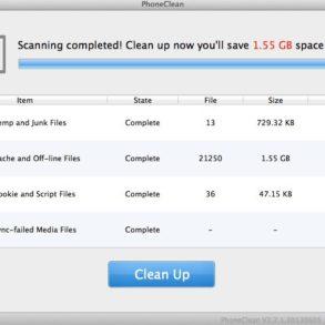 bilan scan clean ipad 293x293 - Astuce - Libérez facilement de la mémoire sur votre iPad ou iPhone