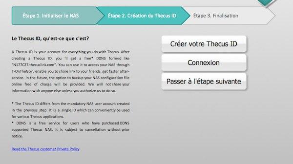 installation thecusOS 6 - Prise en main du NAS Thecus N2520