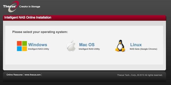 thecus windows osx linux - Prise en main du NAS Thecus N2520
