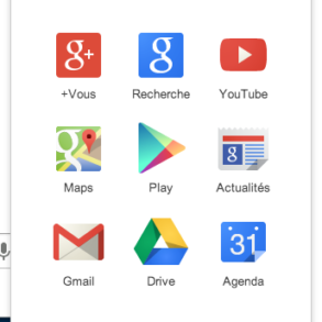 Menu Google 293x293 - Chrome se met à jour... et Google change de logo