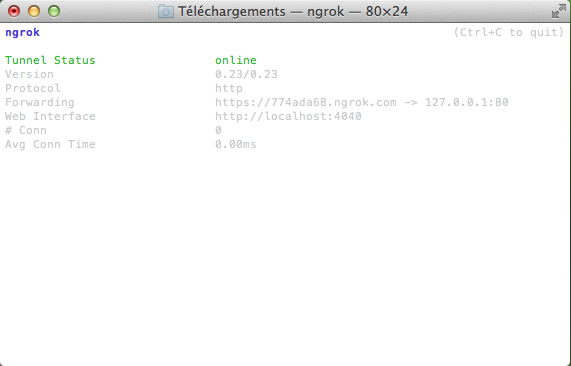 ngrok OS X - ngrok - Créez facilement un tunnel pour vos applications locales