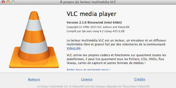 vlc media player 2 1 - VLC 2.1 toujours plus complet