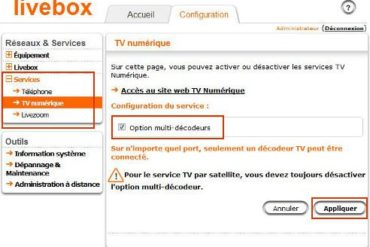 Configuration livebox2 370x247 - Problèmes AirPlay avec votre box : La solution ?