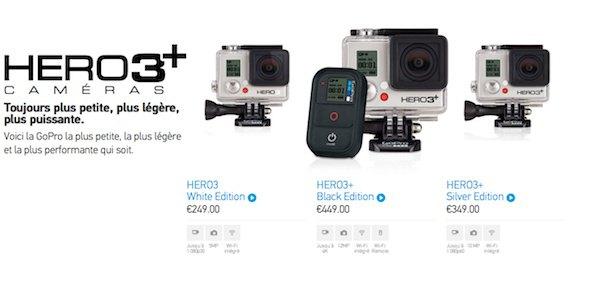GoPro Hero3+1 - GoPro lance ses nouvelles caméra Hero3+