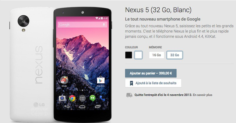 google nexus 5 - Le Nexus 5 est disponible...