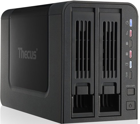 thecus N2310 angle - Thecus lance un NAS 2 baies low cost, le N2310