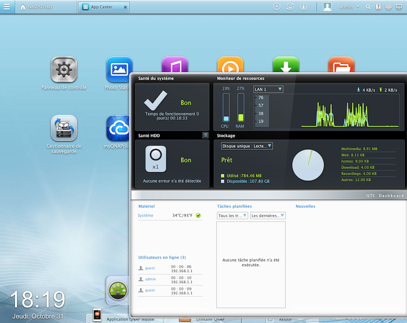widget - Test du QNAP TS-220