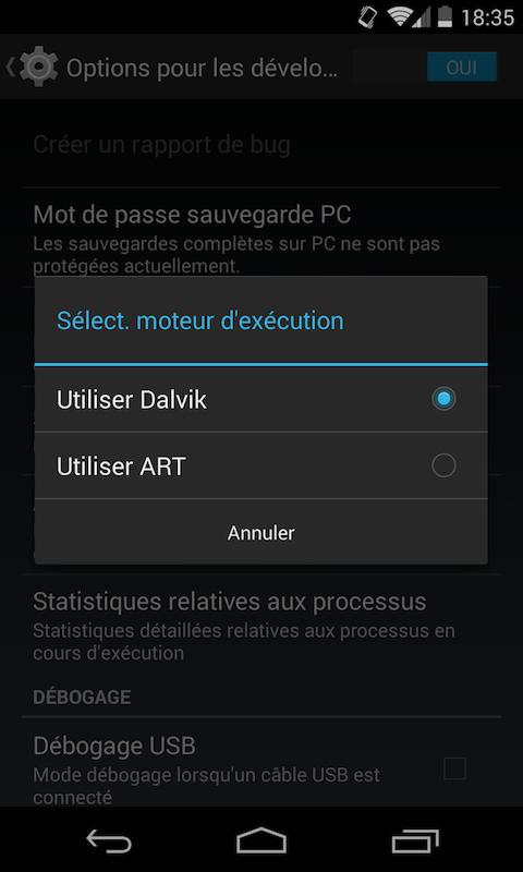 ART Dalvik android - Android - Booster les performances et l'autonomie de votre téléphone avec ART