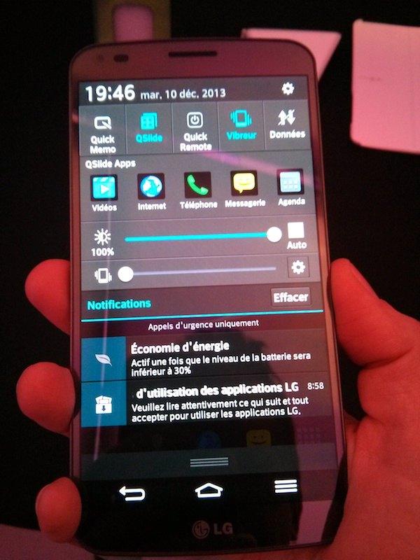 lg g flex android param - Prise en main du LG G Flex
