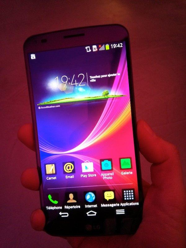 lg g flex android - Prise en main du LG G Flex