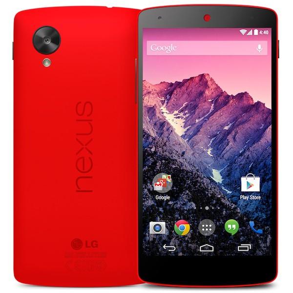 Nexus 5 rouge - Le NEXUS 5 passe au rouge