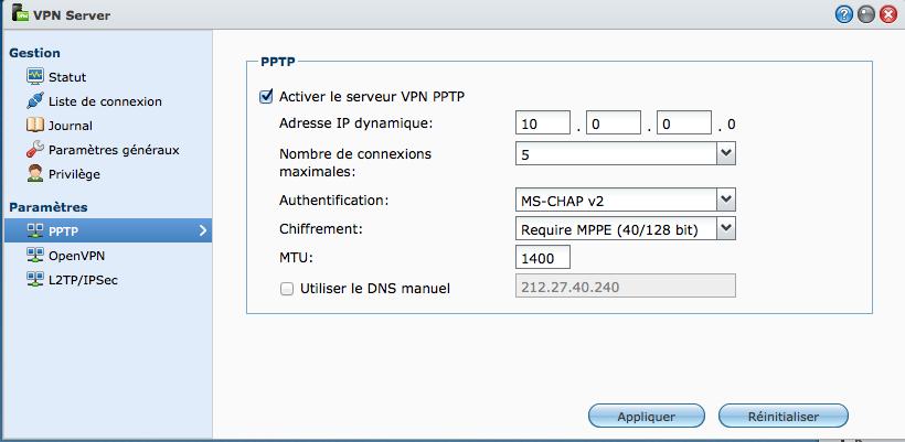 VPN Server - VPN et NAS Synology