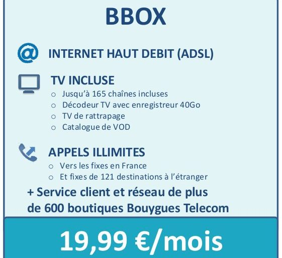 bbox 1999 561x513 - Bouygues Telecom - Offre Triple play à 19,99€