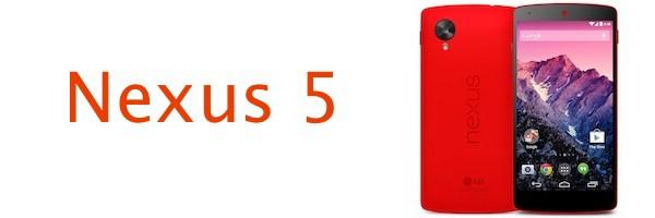 lg nexus 5 rouge - Le NEXUS 5 passe au rouge