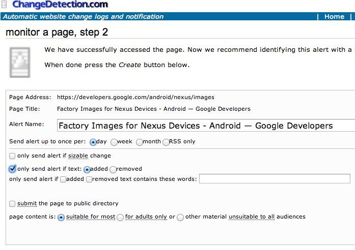 monitor page - Monitorer une page web et être alerté par mail