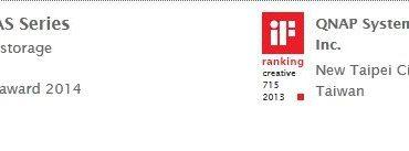 qnap if award 370x137 - QNAP HS-210 remporte l'iF Design Award 2014