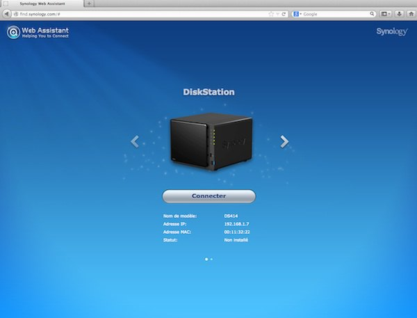 web asistant - Test NAS - Synology DS414