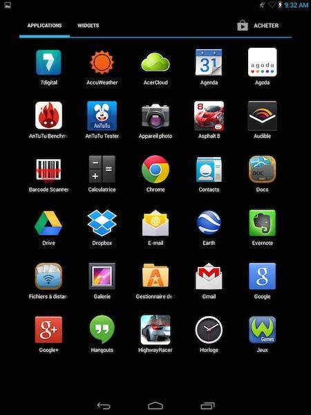 acer inconia app - Test de la tablette Acer Iconia A1-830