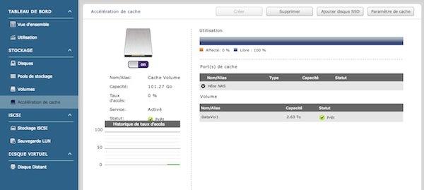gestion cache qnap - Test NAS - QNAP TS-470 Pro, époustouflant !