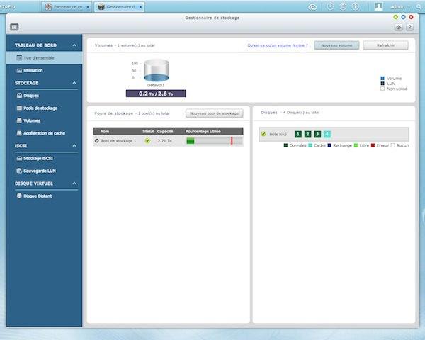 gestion stockage qnap qts 41 - Test NAS - QNAP TS-470 Pro, époustouflant !