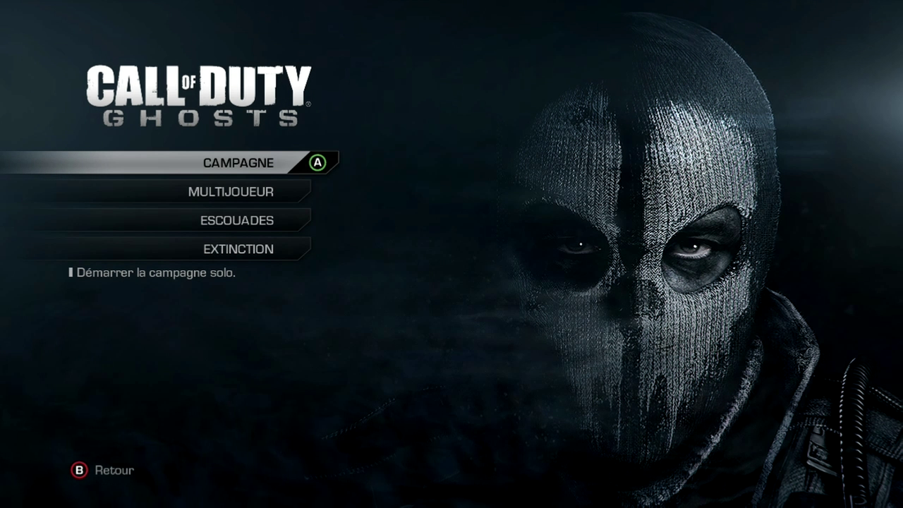 Menu général COD ghosts - Call of Duty: Ghosts, test du nouveau dlc Invasion