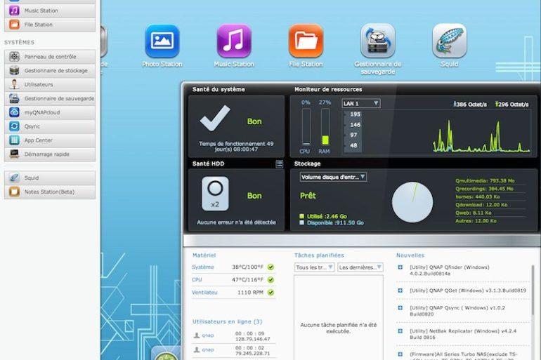 QNAP QTS 41 770x513 - QNAP : QTS 4.1 final disponible pour tous les NAS, à partir des TS-x10
