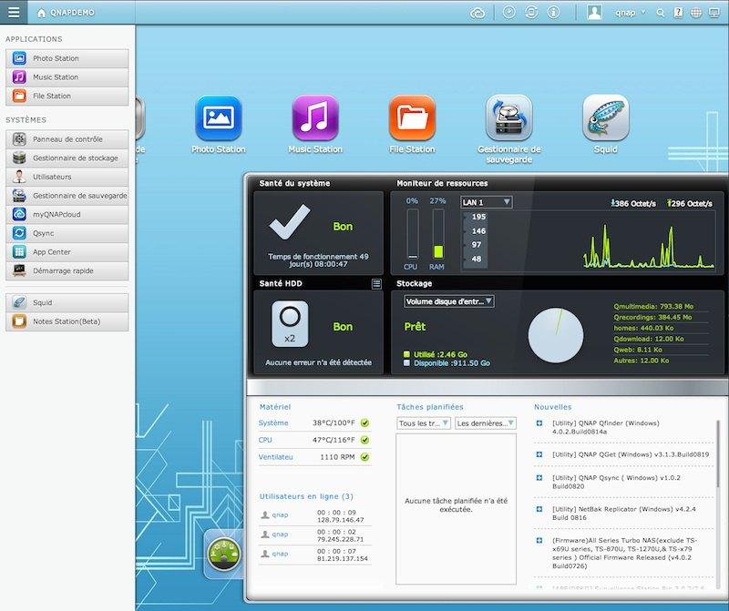 QNAP QTS 41 - QNAP : QTS 4.1 final disponible pour tous les NAS, à partir des TS-x10