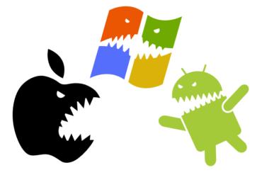 apple vs android vs windows 370x247 - Quoi de neuf du côté des OS de nos chers smartphones ?
