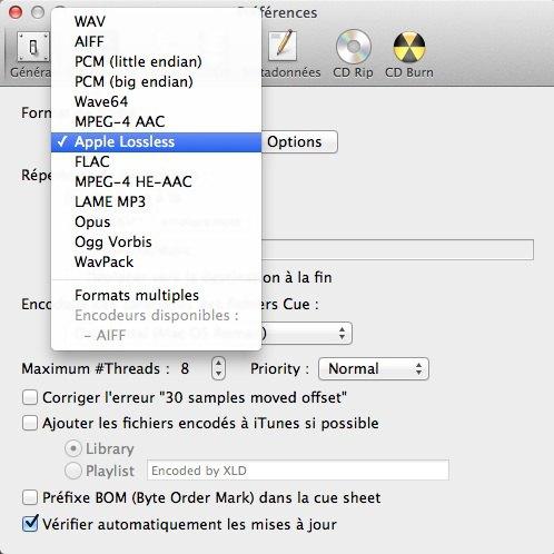 capture xld - Comment lire un FLAC avec iTunes ? La réponse...