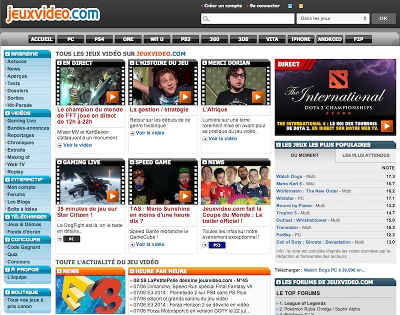 jeuxvideocom - JeuxVideo.com vendu 90 millions d'euros