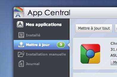 mise a jour app central - ASUSTOR ADM 2.2 est disponible...